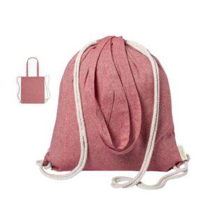 saco mochila de algodão reciclado