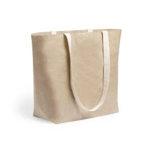 saco de papel laminado com fole a alças de algodão