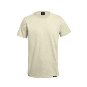 t-shirt unissexo de algodão reciclado bege