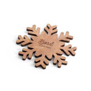 base de copos natalícia em madeira personalizada