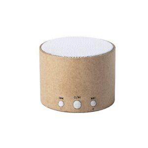 coluna de cartão reciclado e palha de trigo