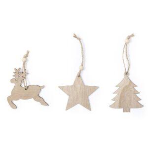 enfeites de natal com figuras de madeira personalizáveis