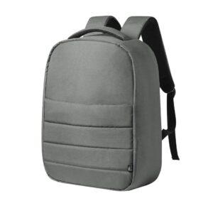 mochila anti-roubo de rpet cinzenta