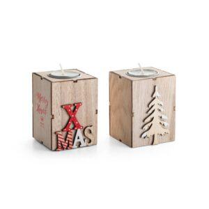 suportes de vela natalícios em madeira mdf personalizados