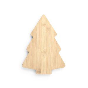 topo de tábua de cozinha de bambu em formato de árvore de natal