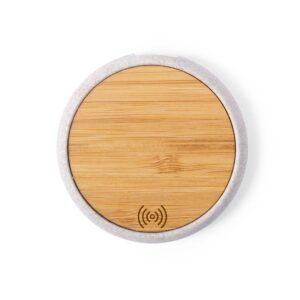 topo de carregador wireless de bambu e cana de trigo