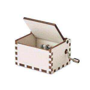 caixa de música de natal em madeira