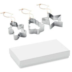 conjunto de moldes de biscoito natalícios em aço inoxidável com caixa
