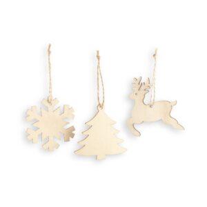 figuras natalícias em madeira para pendurar