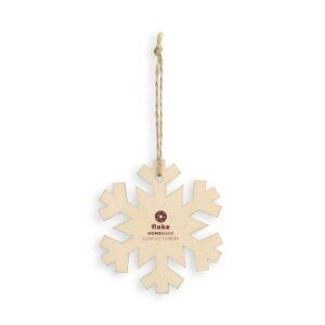 floco de neve em madeira personalizado para pendurar