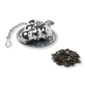 infusor de chá em aço inoxidável com formato de árvore