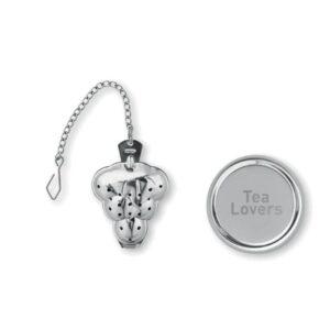 infusor de chá árvore em aço inoxidável personalizado