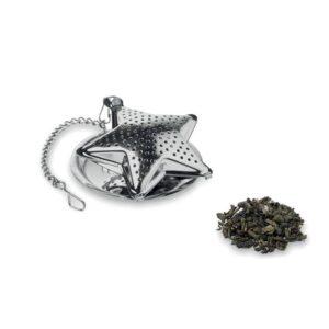 infusor de chá em aço inoxidável com formato de estrela