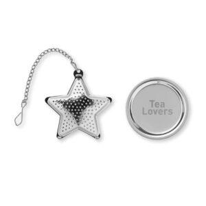 infusor de chá estrela em aço inoxidável personalizado