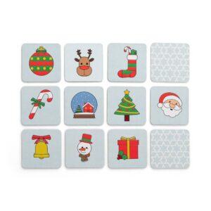 jogo da memória de natal em cartão