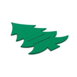 porta-talheres natalício em rpet verde